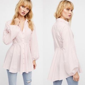 Free People All The Time Tunic Front Button XS/S
